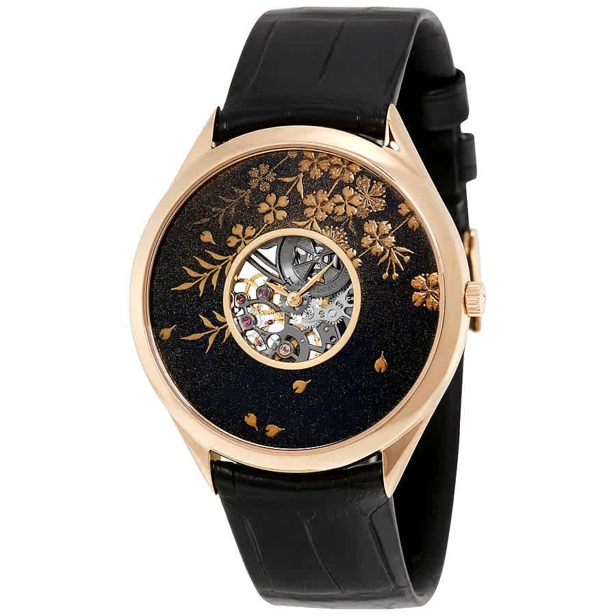Vacheron Constantin Metiers D'art Hanami Spring Unisex Watch 33222/000r-9701 In Black,gold Tone,green,pink,rose Gold Tone