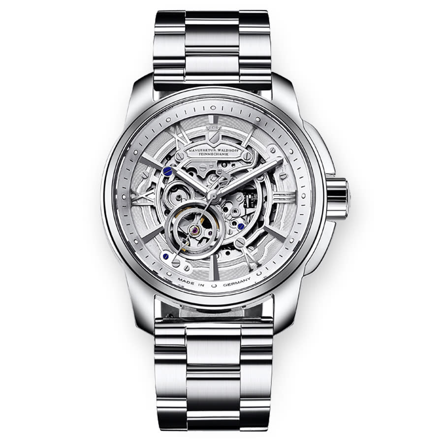 Waldhoff Republic Silver Dial Stainless Steel Mens Watch 04a-3l In Silver Tone