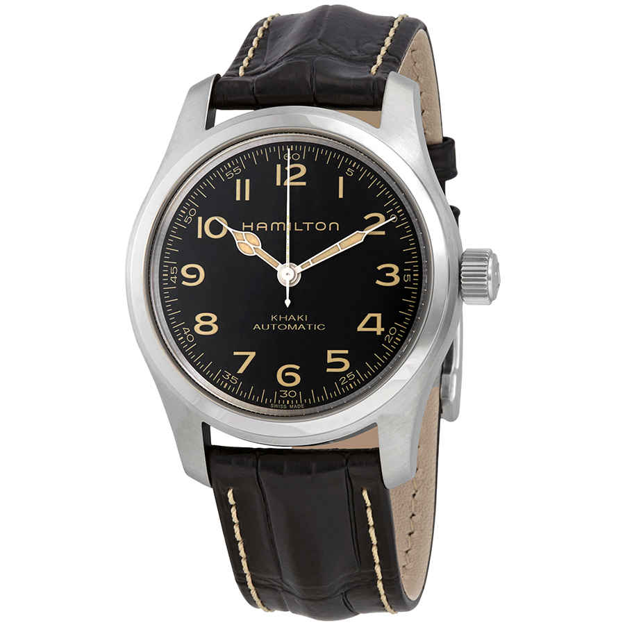 Hamilton Khaki Field Murph Automatic Black Dial Mens Watch H70605731 In Beige,black,silver Tone