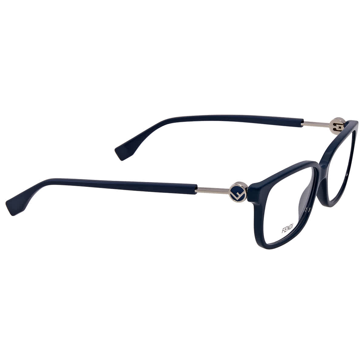 Fendi Demo Rectangular Ladies Eyeglasses Ff 0394 Zi9 54 In Blue