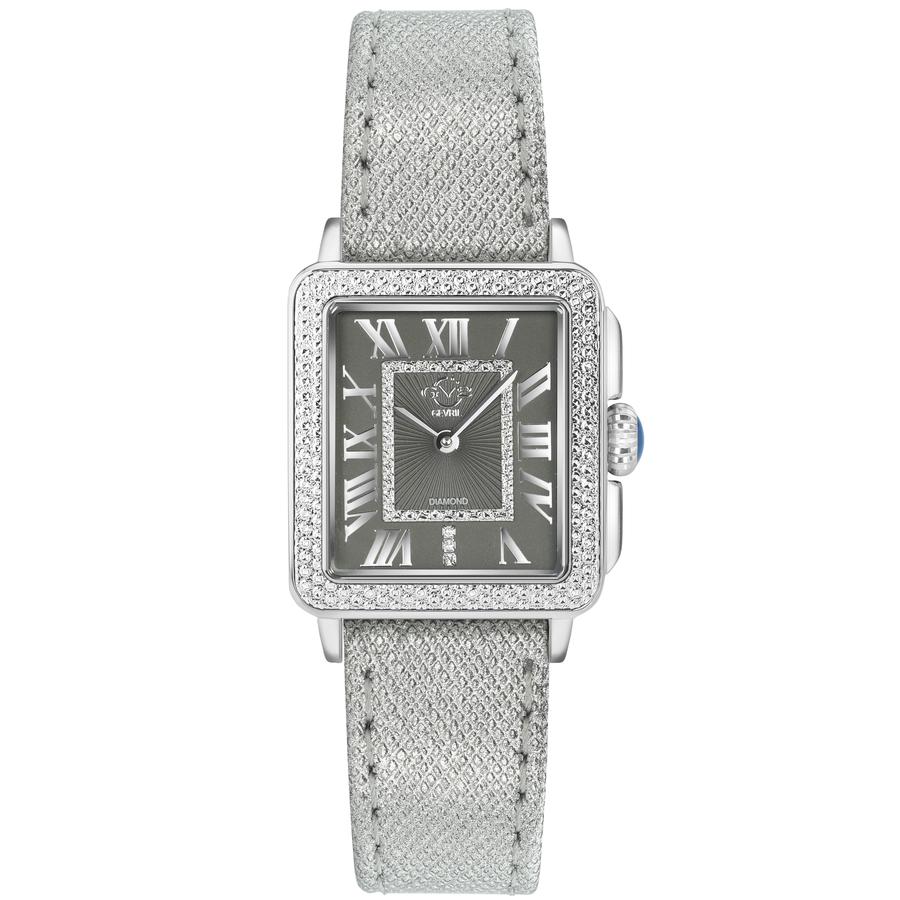 Gv2 By Gevril Padova Quartz Diamond Grey Dial Ladies Watch 12301 In Gray
