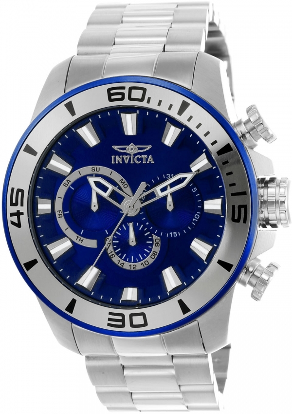 Invicta Pro Diver Blue Dial Chronograph Mens Watch 22586 In Metallic