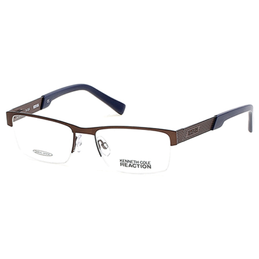 Kenneth Cole Reaction Square Unisex Eyeglasses Kc0783 49 52 In Brown