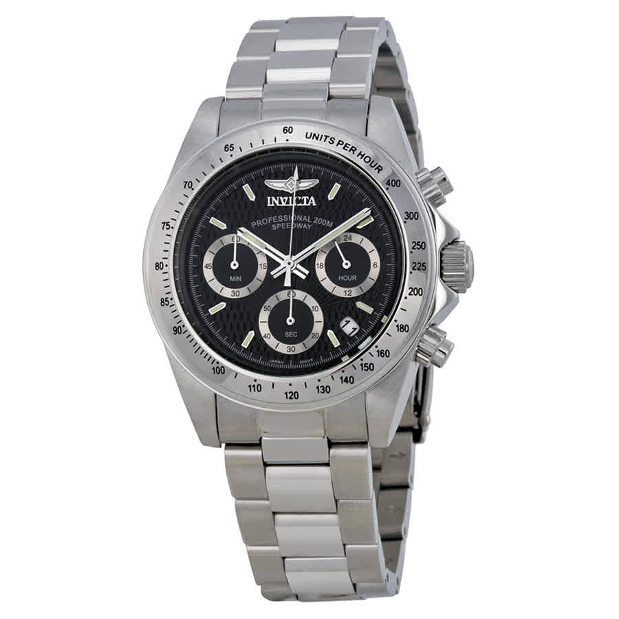 Invicta Speedway Chronograph Black Dial Mens Watch 9223