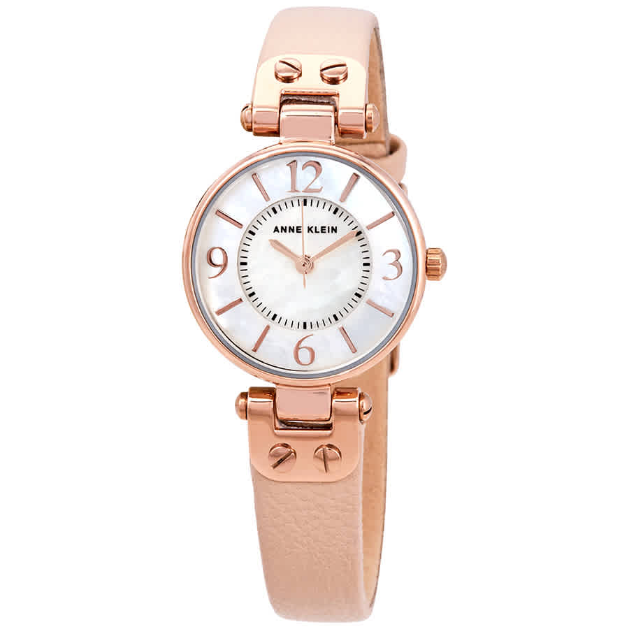 Anne Klein Mother Of Pearl Dial Ladies Watch 10-9442rglp In Gold