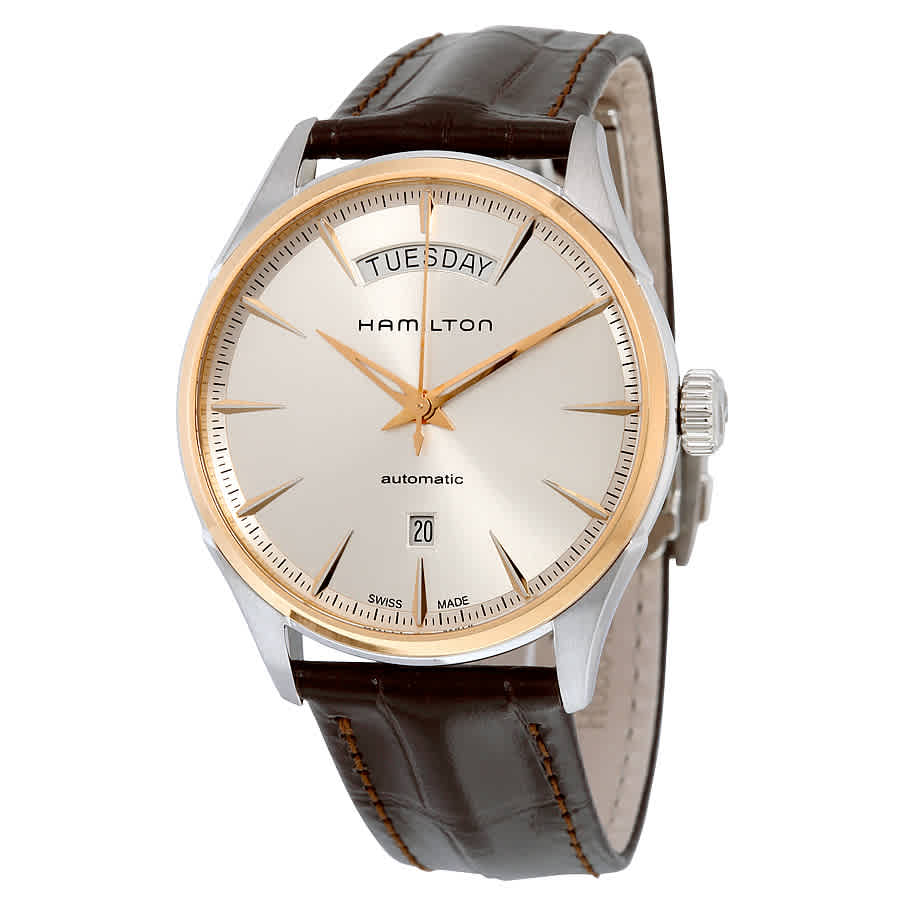 Hamilton Jazzmaster Automatic Silver Dial Mens Watch H42525551 In Brown
