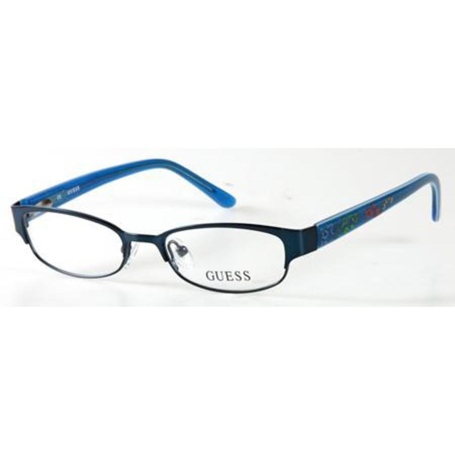 Guess Unisex Blue Round Eyeglass Frames Gu9110(gu9110)b2447