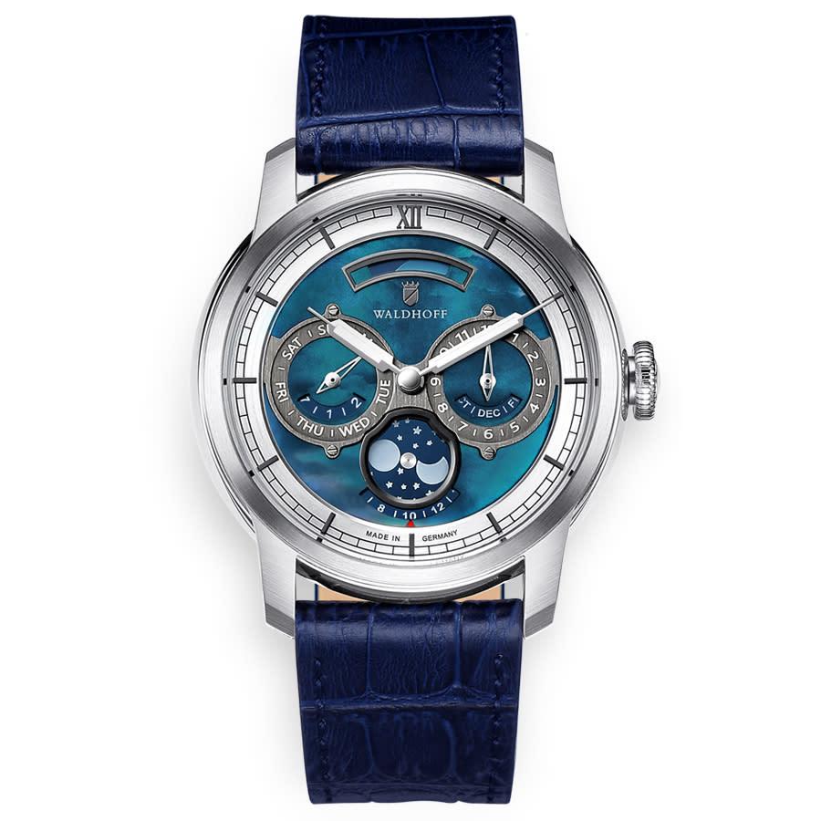 Waldhoff Olympus Automatic Grey Dial Mens Watch Olympus Royal Blue In Blue,grey,silver Tone