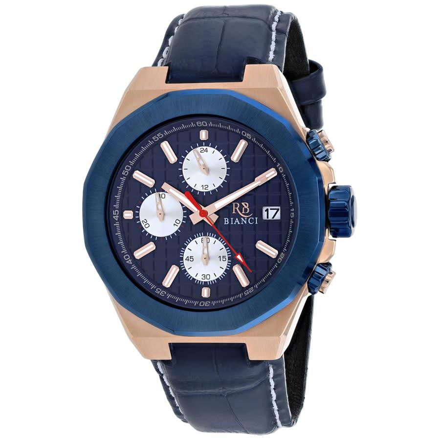 Roberto Bianci Fratelli Chronograph Quartz Blue Dial Mens Watch Rb0135