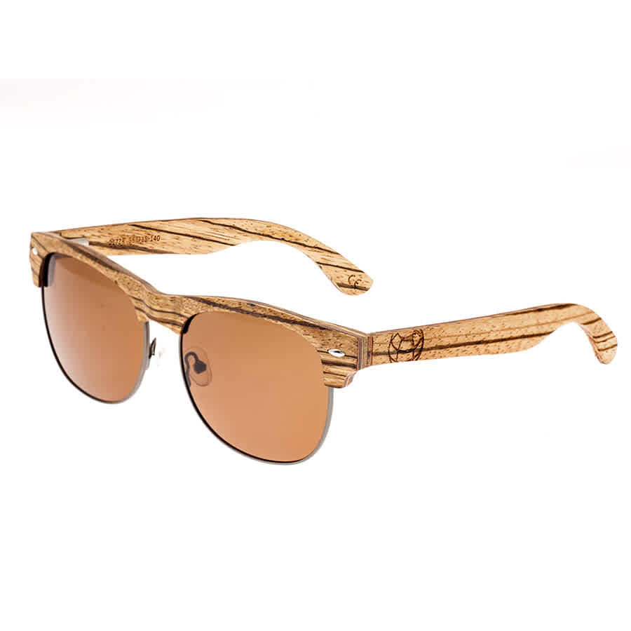 Earth Moonstone Wood Sunglasses In Brown