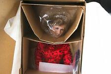 "Ashton-Drake Red ""Diana, World's Beloved Rose"" Porcelain Doll NIB #96002 w/ CoA"