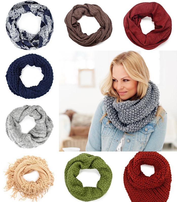 Как одеть круглый шарф