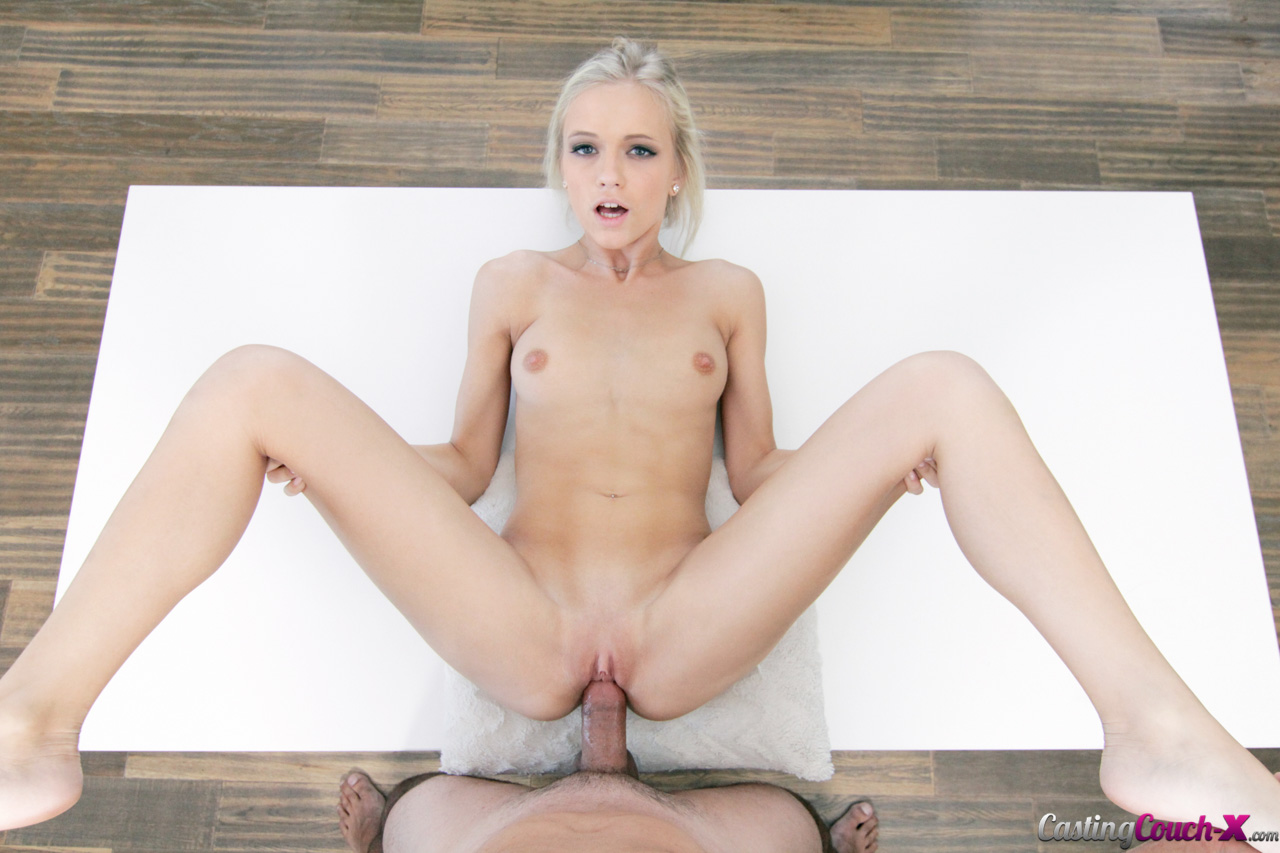 Cute blonde Alex takes her turn on the casting couch