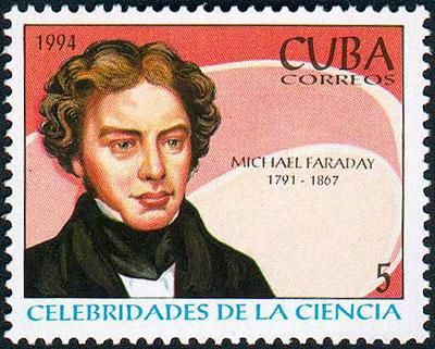 марка с портретом Фарадея