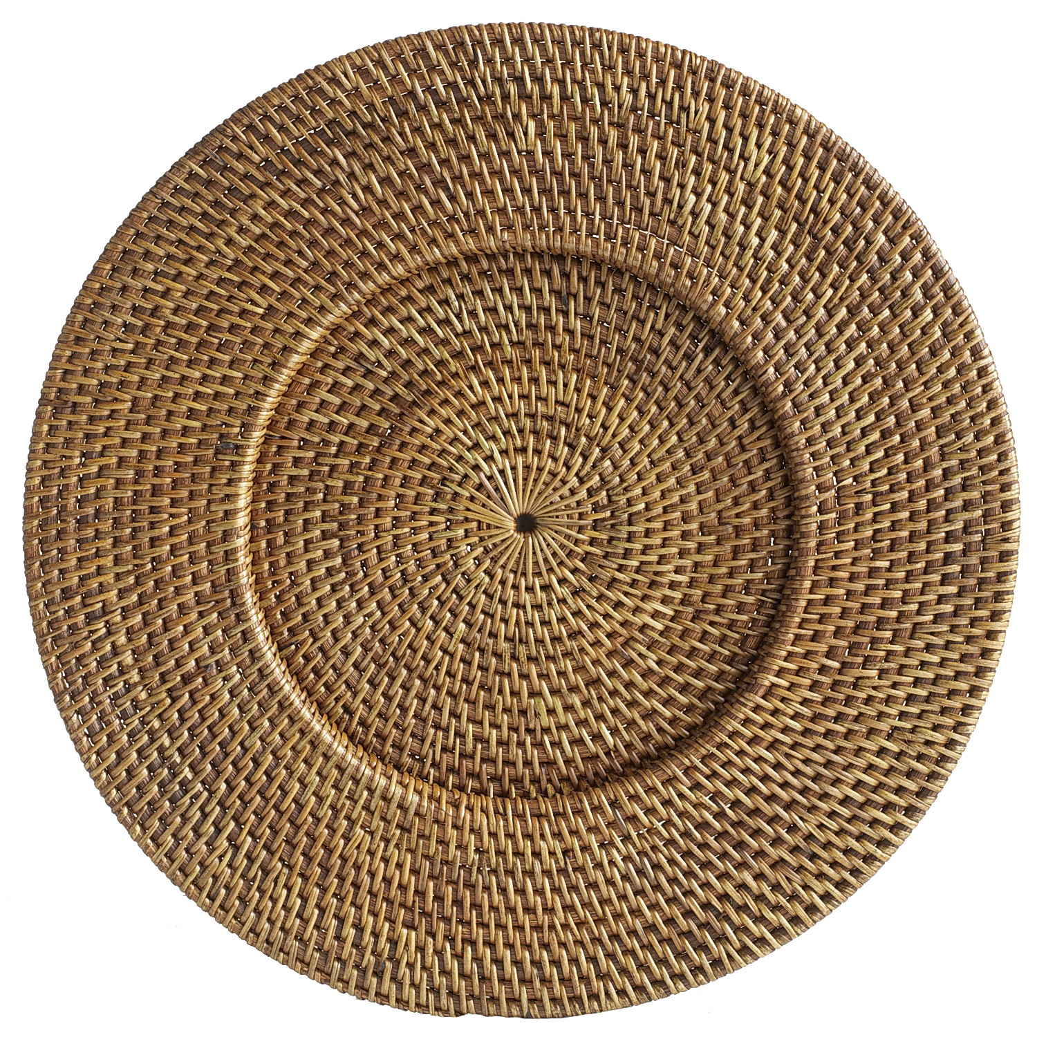 Brown Rattan Round Charger Plate
