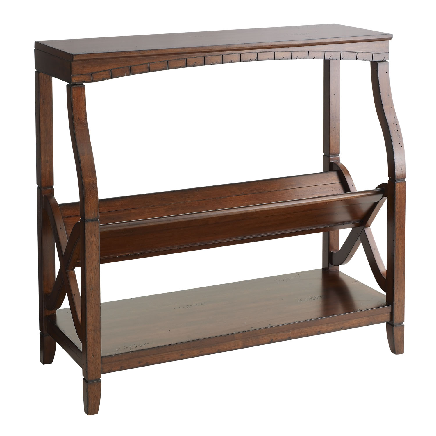 Bookseller Low Shelf - Mahogany Brown