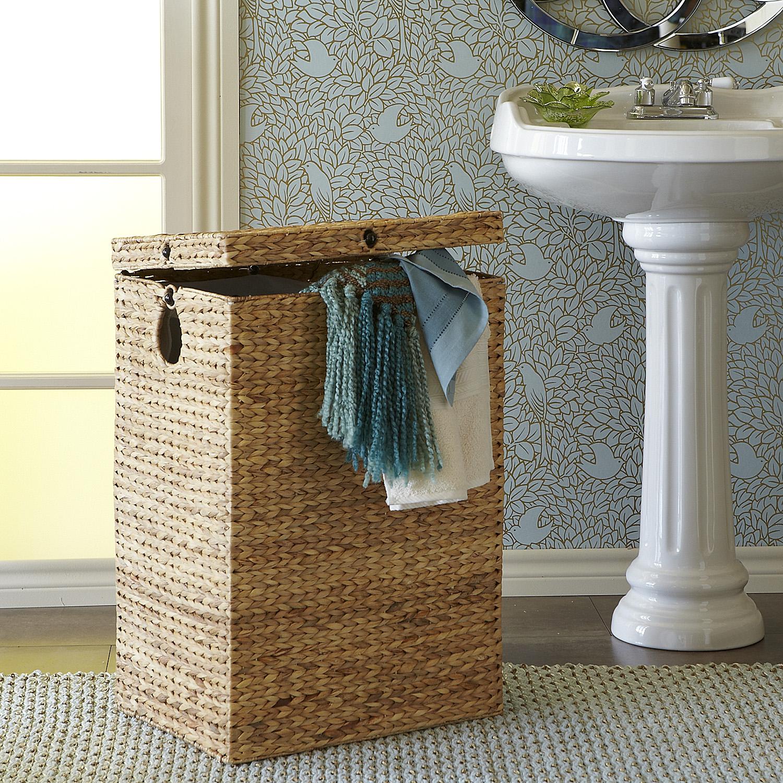 Carson Natural Wicker Laundry Hamper