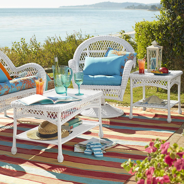 Santa Barbara White End Table