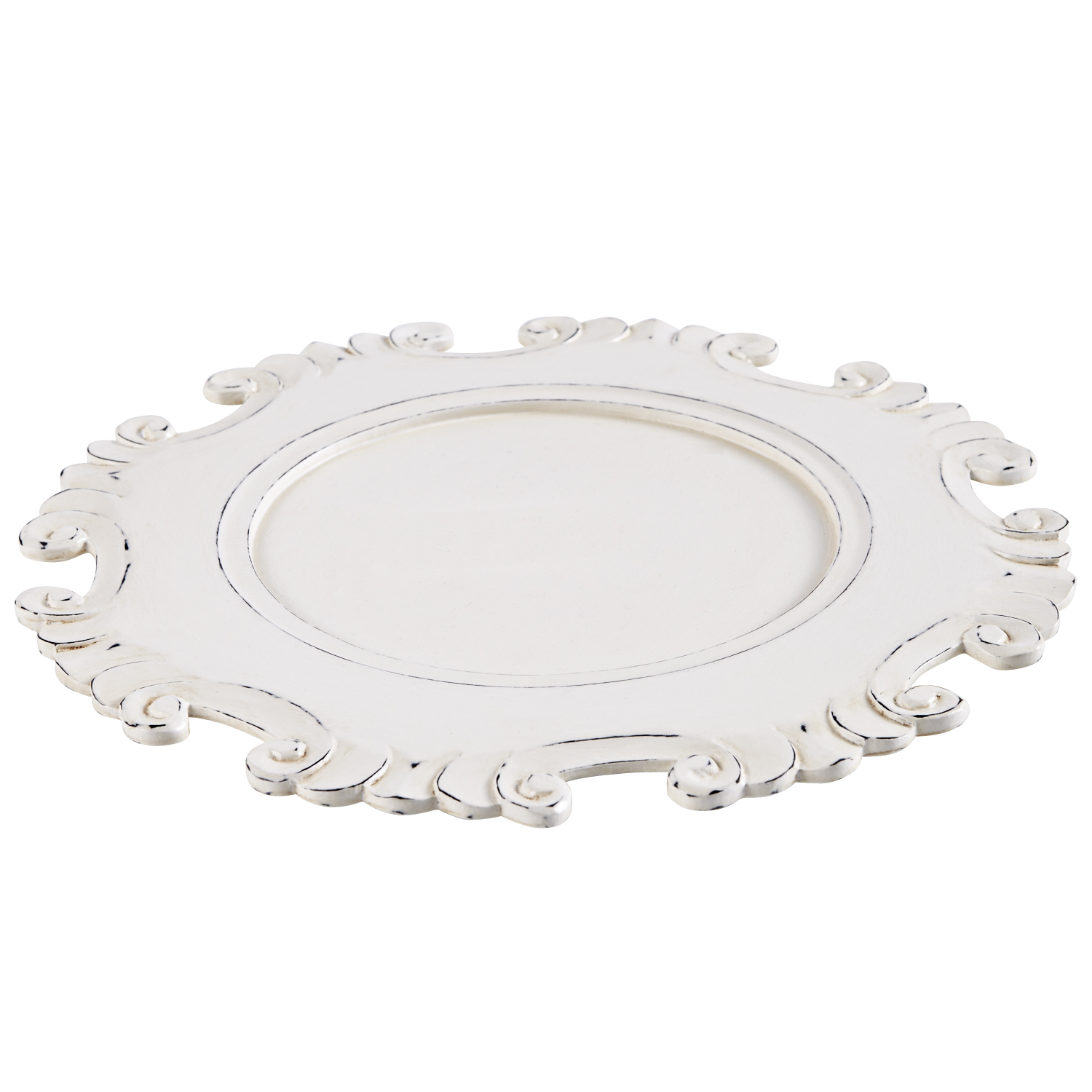 Carved White Charger Plate