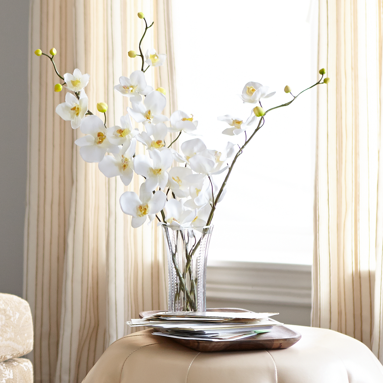 Faux Phalaenopsis Orchid Stem