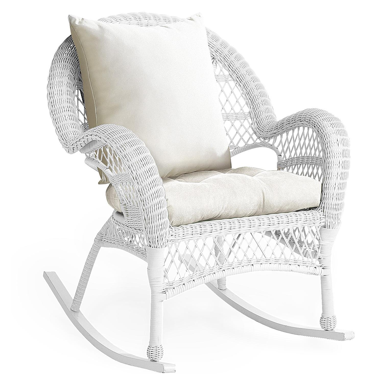 Santa Barbara White Rocking Chair