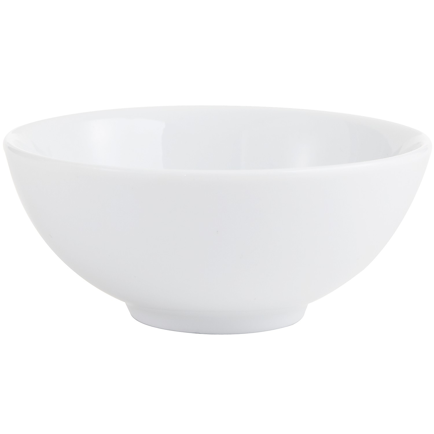 Luminous Porcelain Round White Dip Bowl