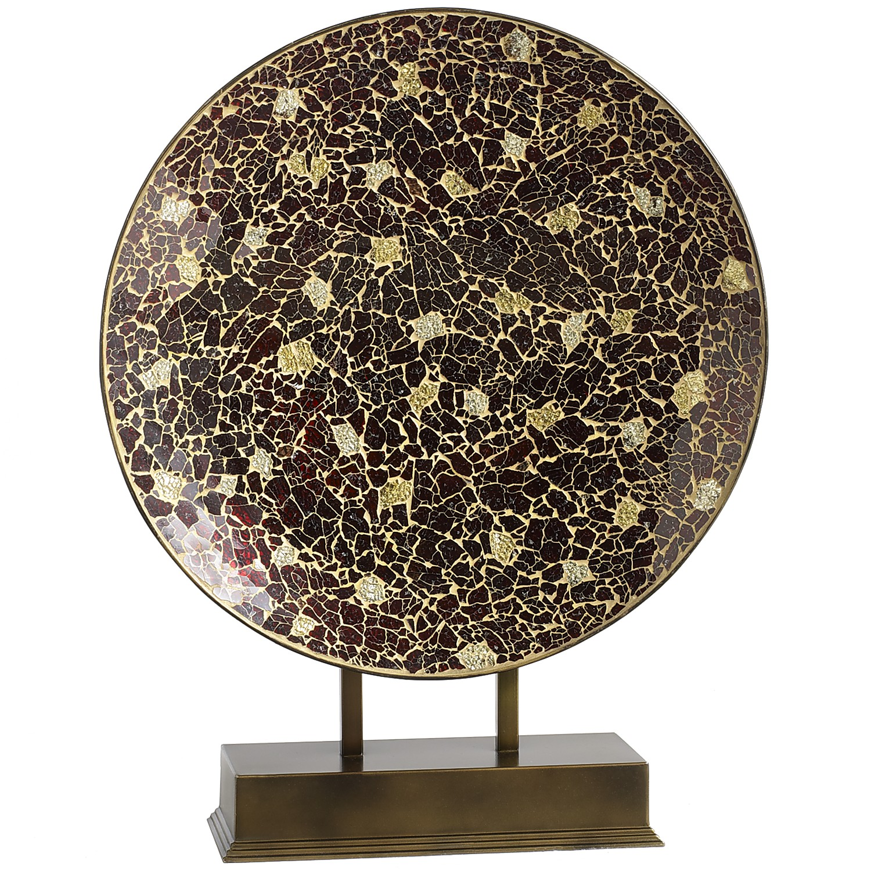Burgundy & Gold Mosaic Platter