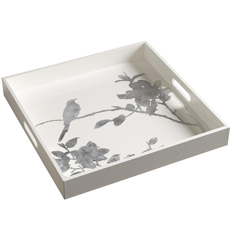 White & Silver Tray