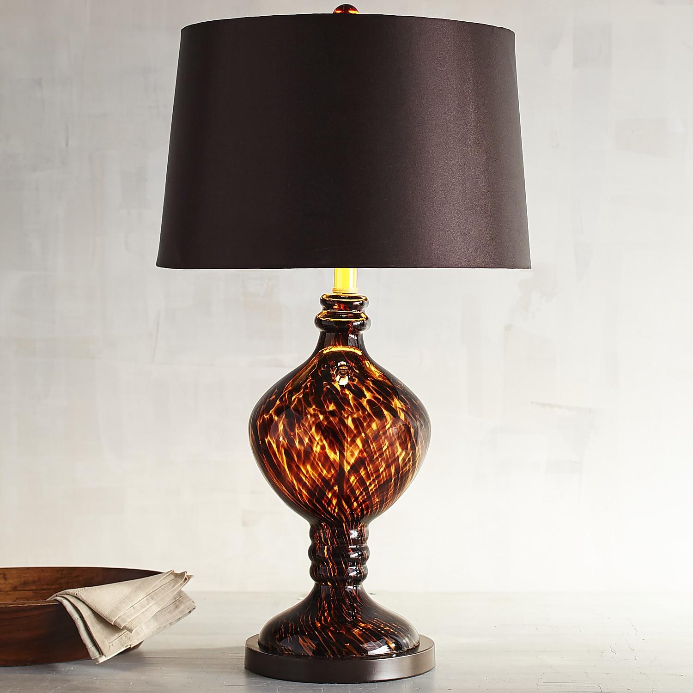 Tortoise Glass Table Lamp