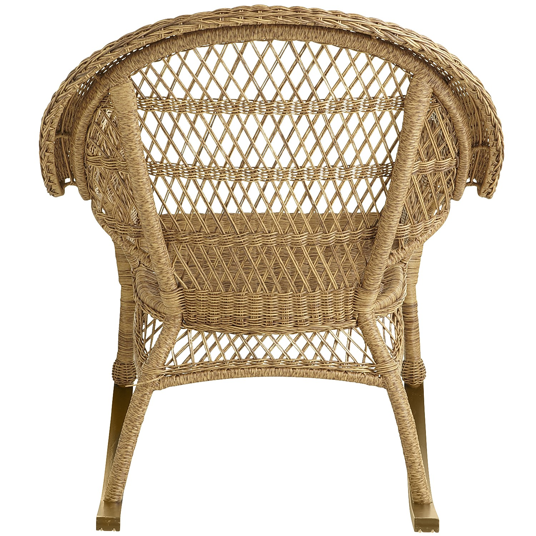 Santa Barbara Light Brown Rocking Chair