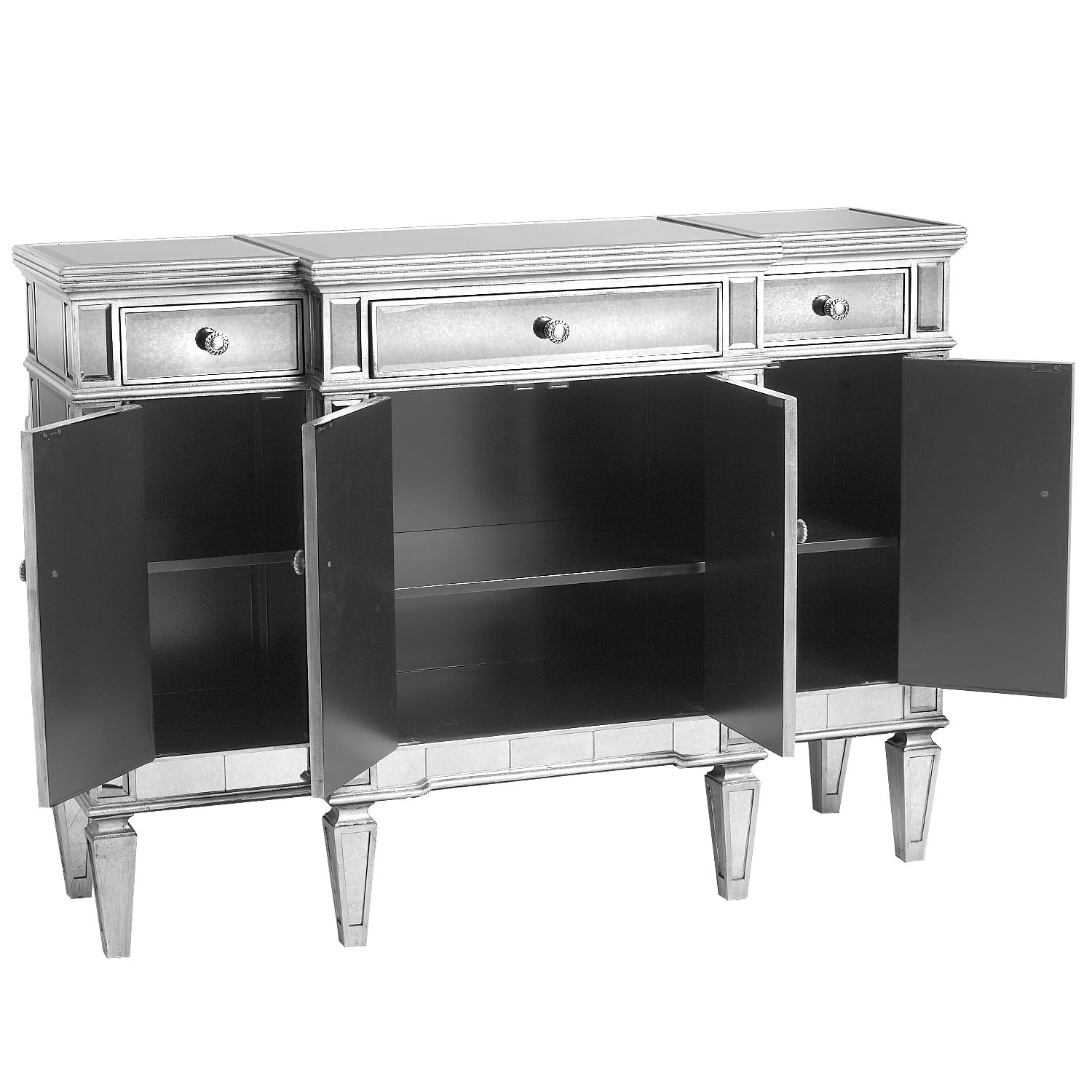 Hayworth Mirrored Silver Buffet Table