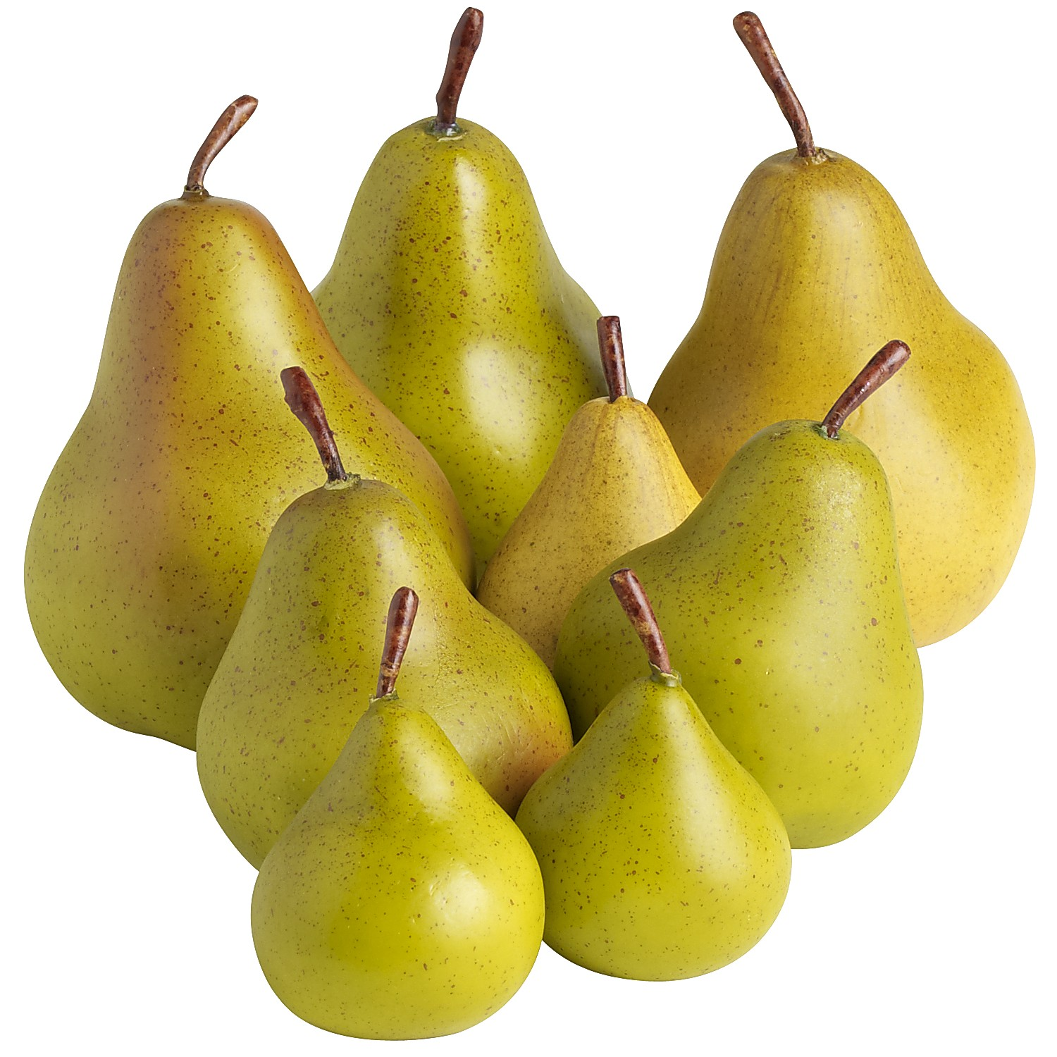 Artificial Green Pears 8ct Bag