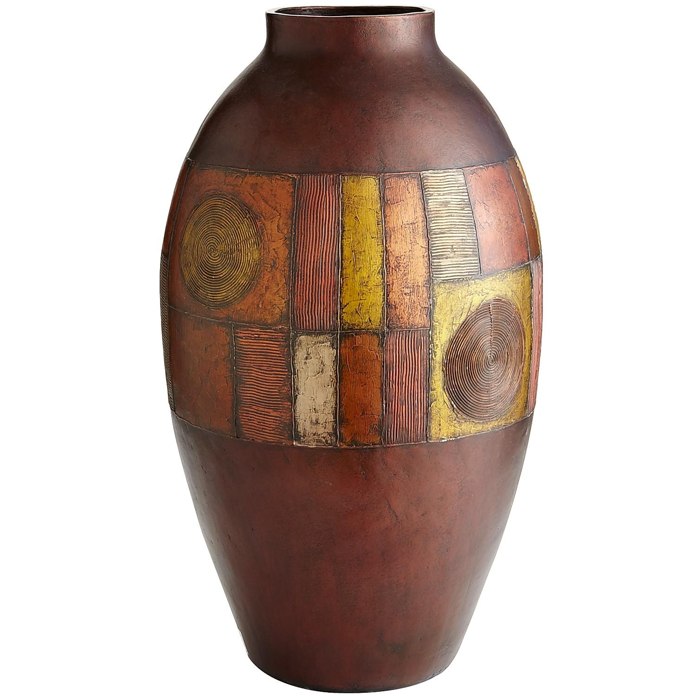 Metallic Mosaic Terracotta Floor Vase