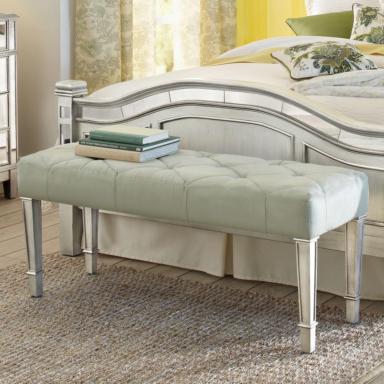 Hayworth Seafoam Silver Bench