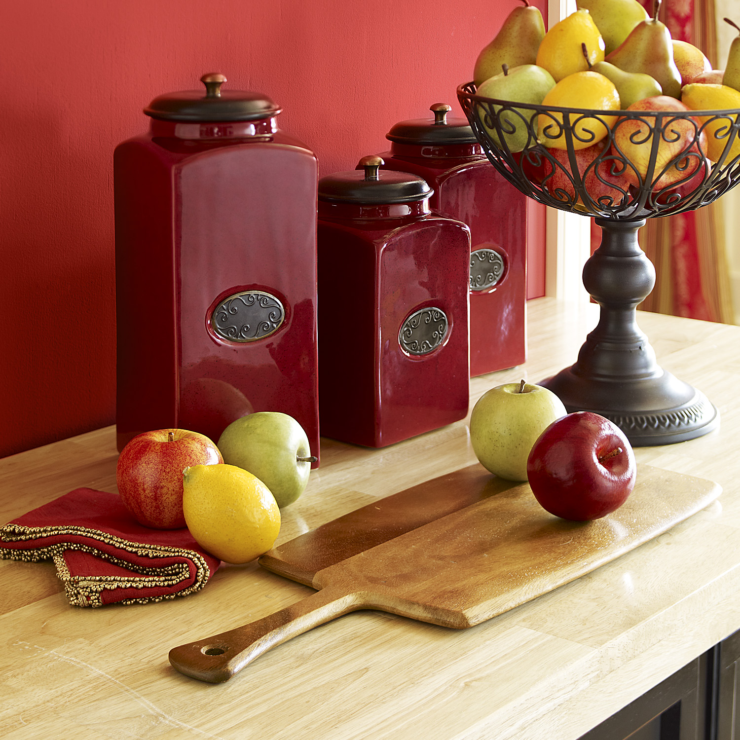 Artificial Red Apples