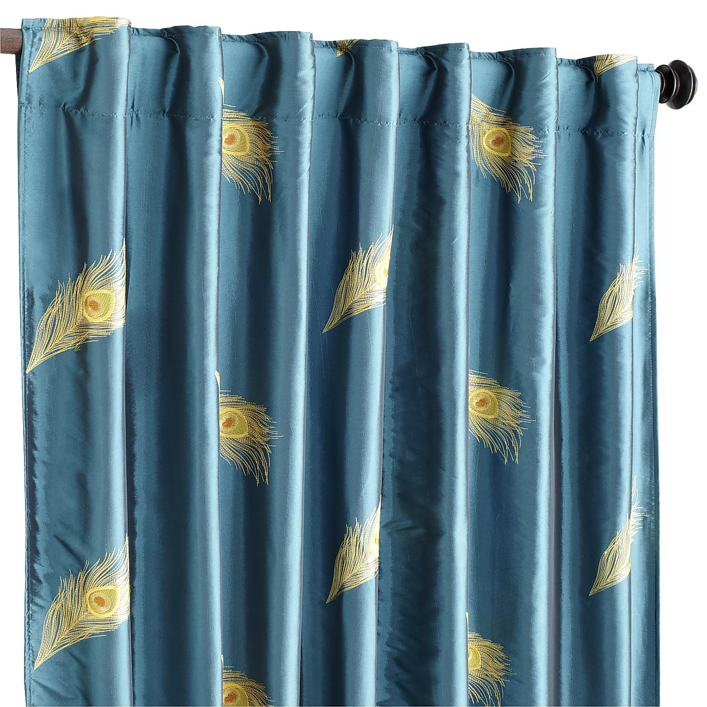 "Peacock Feather  96"" Curtain"
