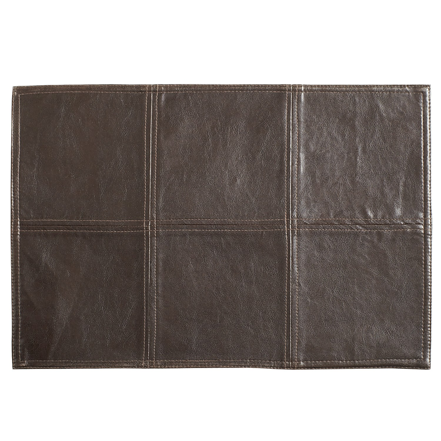 Faux Leather Placemat - Brown