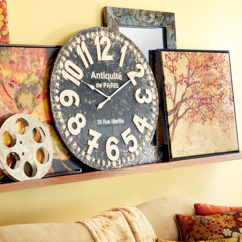Oversize Black Grandiose Wall Clock