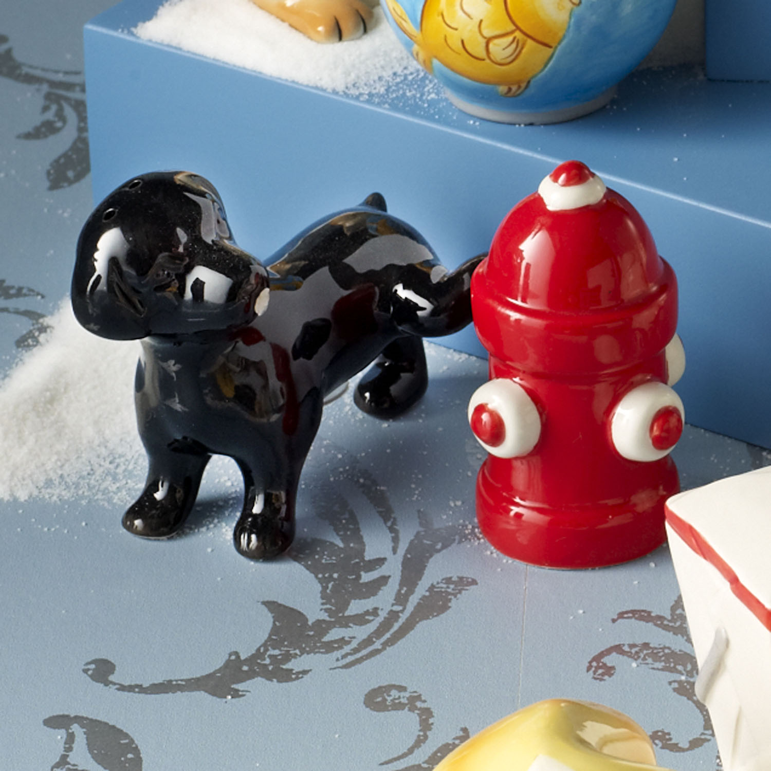 Dog & Fire Hydrant Salt & Pepper Shakers