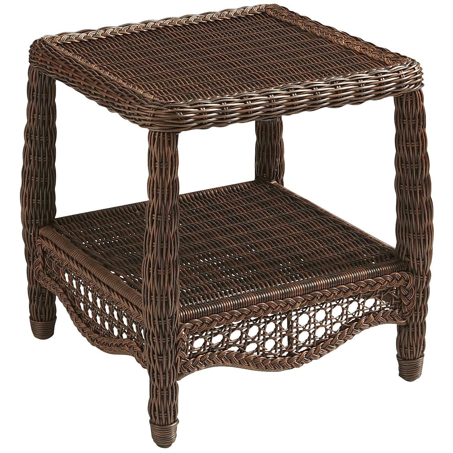 Sunset Pier Chestnut Brown End Table
