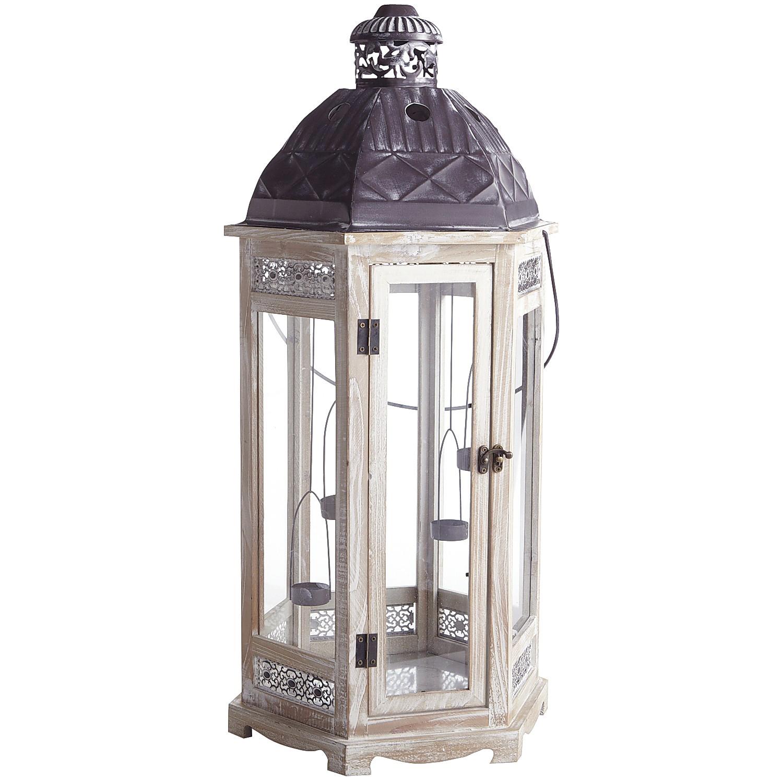 White Wooden Floor Lantern