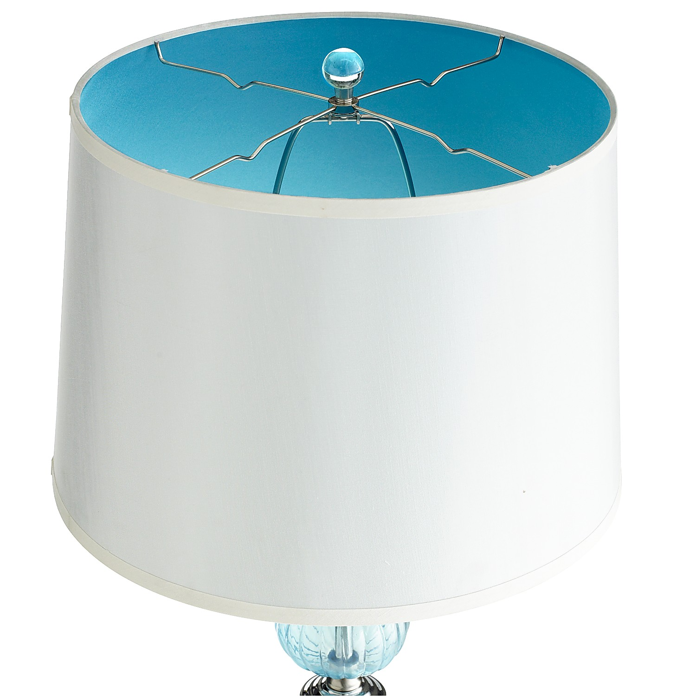 Aqua Glass Floor Lamp