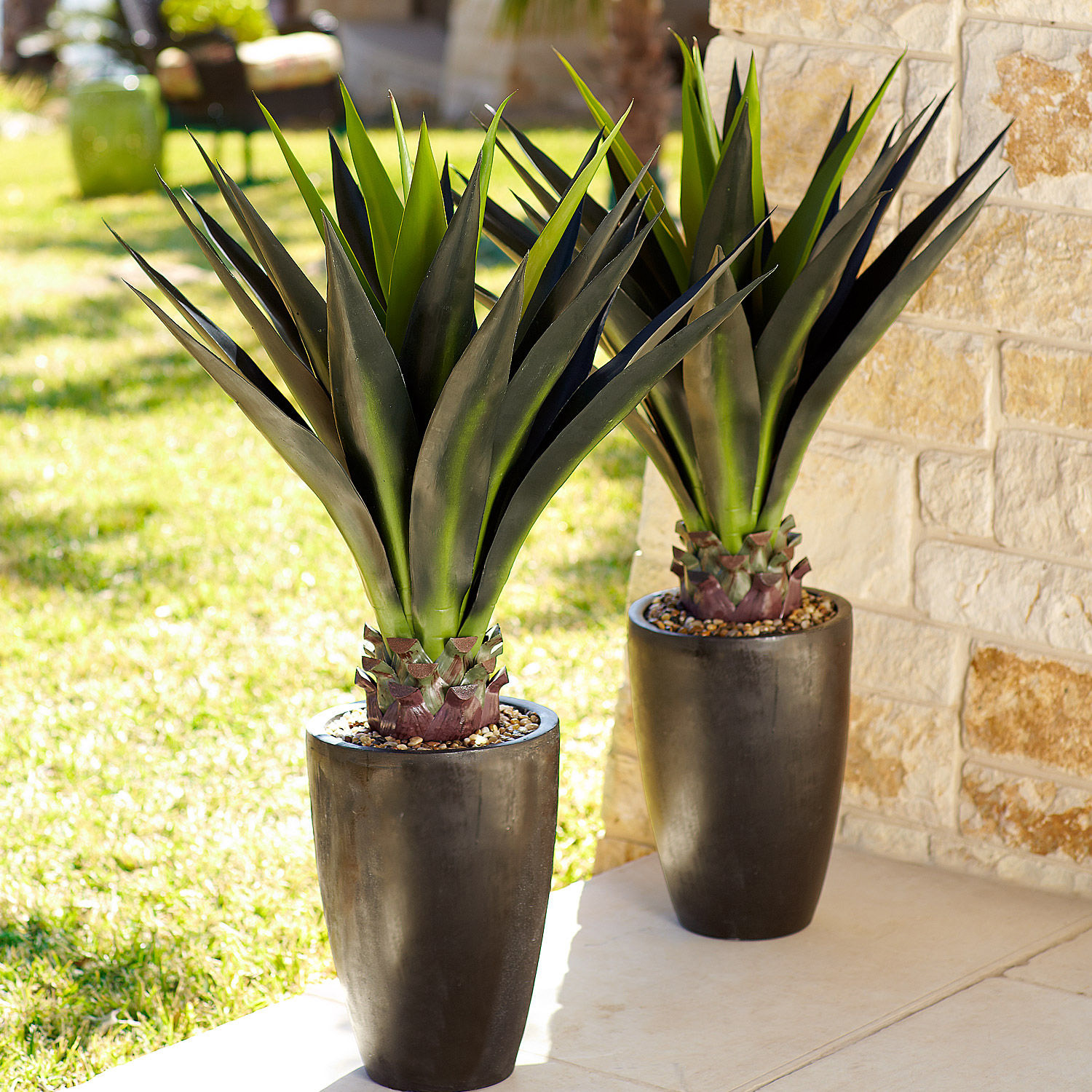 """44"""" Faux Agave Plant in Pot"""