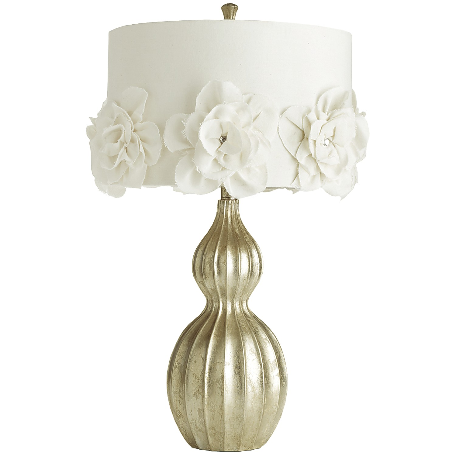 Hayworth Rosette Champagne Table Lamp