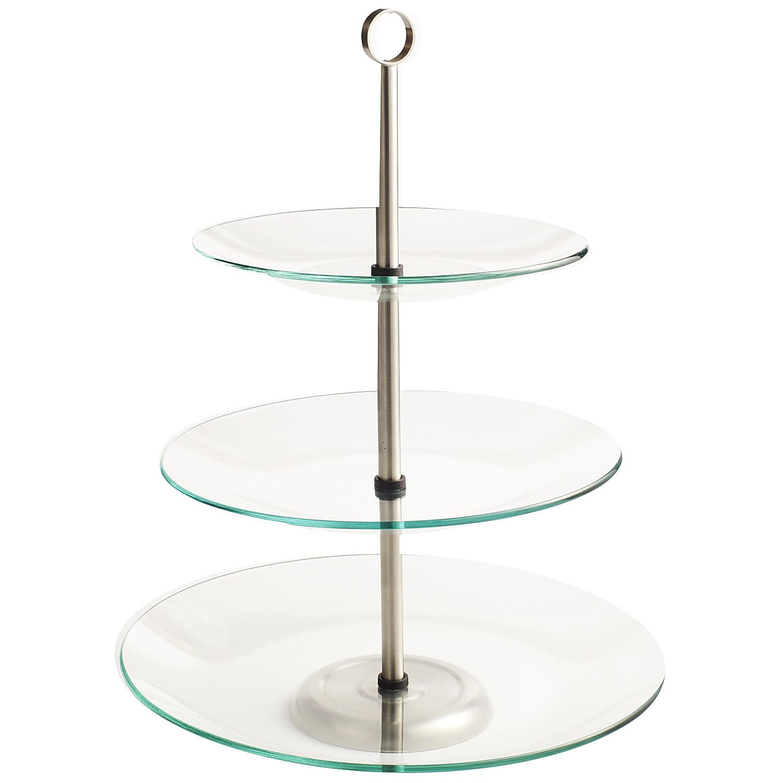3-Tiered Glass Buffet Server