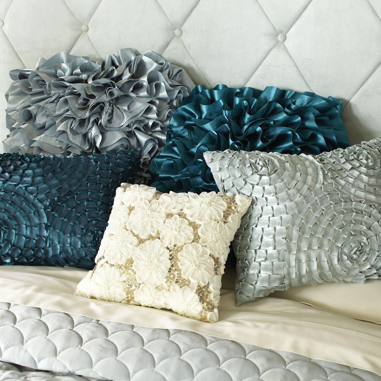 Flounce Pillow - Teal