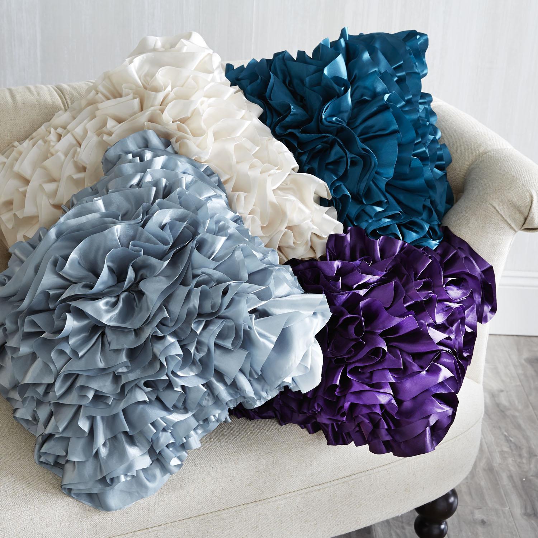 Flounce Pillow - Purple