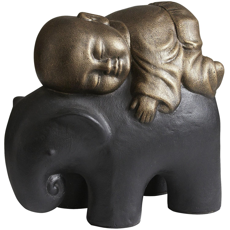 Golden Monk on Elephant