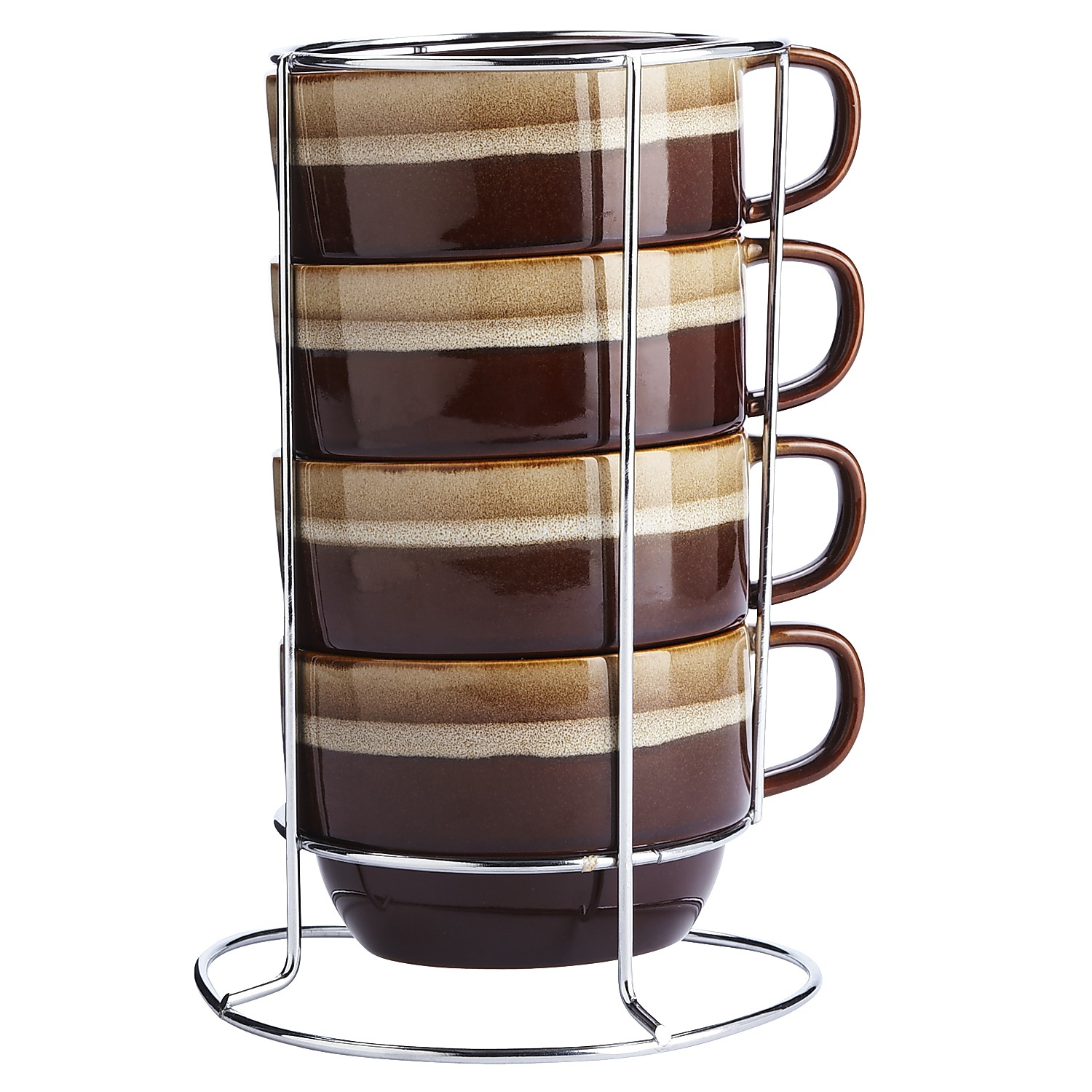 Reactive Stripe Stacking Mugs Set