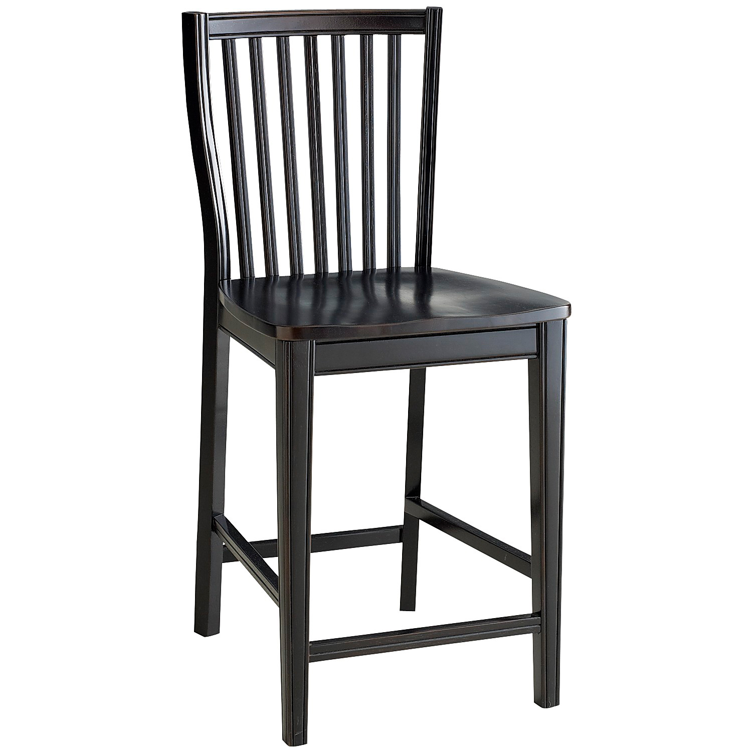 Ronan Rubbed Black Counter Stool